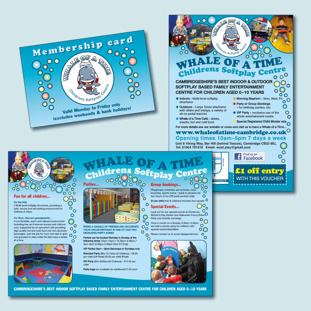 Whale of a Time promotional items